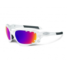 Oakley Racing Jacket Matte White Prizm Road & Pers Vented