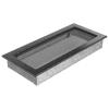 Kratki Fekete Ezüst Szellőzőrács Standard 17x37