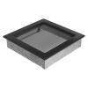 Kratki Fekete Szellőzőrács Standard 22x22
