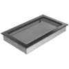 Kratki Fekete Ezüst Szellőzőrács Standard 22x37