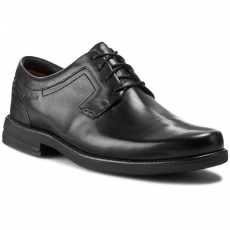 Clarks Félcipő CLARKS - Carter Air 203412288 Black Leather