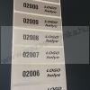 60x18mm ezüst pepita nyomot hagyó címke