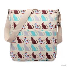 LC1644CT - Miss Lulu London Regularmattte Oilcloth szögletes táska Cat