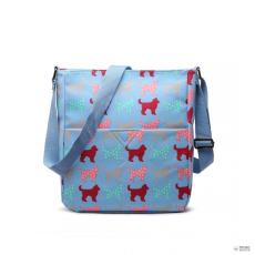 LC1645NDG - Miss Lulu London kicsimattte Oilcloth szögletes táska Dog kék