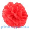 Dekor lampion virág papír 10cm piros SSS