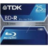 TDK BD-R25 25GB 4x slim Bluray lemez