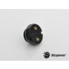 Bitspower Matt Black Diamond záródugó G1/4 - hatszög - matt fekete /BP-MBDWP-DC06/