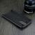 LG V10 H900 hátlap képernyővédő fóliával - IMAK Vega Leather - fekete