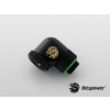 Bitspower Multi-Link Matt Black Enhance Rotary 90° forgatható G1/4 12mm AD - matt fekete /BP-MBE90RML/ (Másolata)