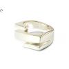 Sávos mattított fantázia női ezüst gyűrű
