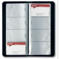 Herlitz - Névjegykártyatartó műbőr, fekete, 128 kártyához
