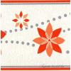 Barack-narancs virág mintás bordűr