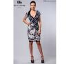 bebe/2be 2382 kockás virágos ruha női ruha