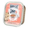 Happy Cat Duo pástétomos falatkák - Baromfi és lazac 12 x 100 g