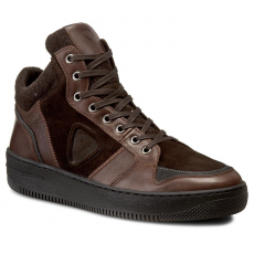 Strellson Sportcipő STRELLSON - New Alex High Sneaker 4010001998 Dark Brown 702