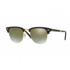 Ray-Ban RB2176 901S9J CLUBMASTER FOLDING MATTE BLACK GREEN FLASH GRADIENT napszemüveg