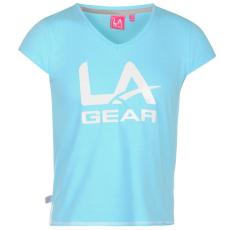 LA Gear Sportos póló LA Gear Large Logo V Neck gye.