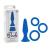 California Exotic Novelties Posh szilikon análplug + 3db péniszgyűrű - kék
