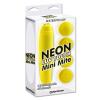 Pipedream - Neon Luv Touch Neon Mini Mite csiklóvibrátor 4 fejjel - sárga