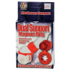 California Exotic Novelties Dual Support péniszgyűrű - piros