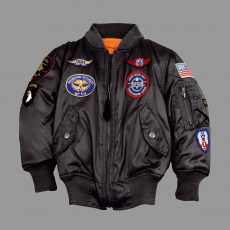 Alpha Industries MA-1 Patch Youth - fekete