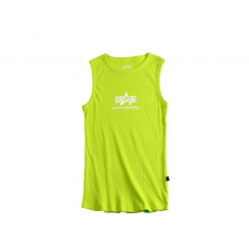 Alpha Industries Logo Tank - lime