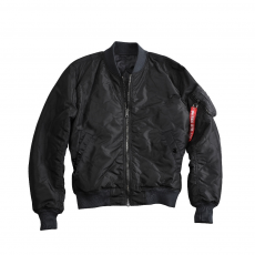 Alpha Industries MA-1 Quilted - fekete