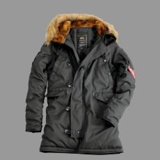 Alpha Industries Explorer női felvarró nélkül - replika szürke kabát