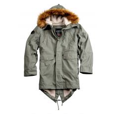 Alpha Industries Hooded Fishtail III - olive