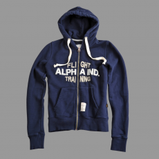 Alpha Industries Flight Training Zip Hoody - replica blue