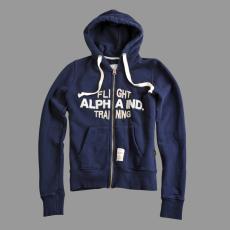 Alpha Industries Flight Training Zip Hoody - replica blue