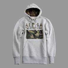 Alpha Industries Camouflage Print Hoody - szürke