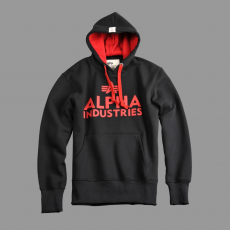 Alpha Industries Foam Print Hoody - fekete