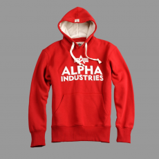 Alpha Industries Foam Print Hoody - speed red