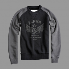 Alpha Industries Rescue Crew Neck - fekete