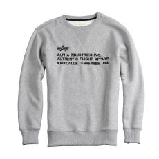 Alpha Industries AFA Crew Neck - szürke pulóver