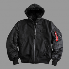 Alpha Industries MA-1 D-Tec Wool - fekete