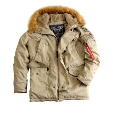 Alpha Industries Explorer női valódi szőrmével - khaki színű kabát