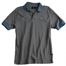 Alpha Industries Twin Stripe Polo - greyblack/blue