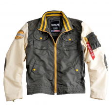 Alpha Industries MC Club Jacket - greyblack / bone
