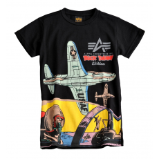 Alpha Industries Cockpit Kids T - fekete