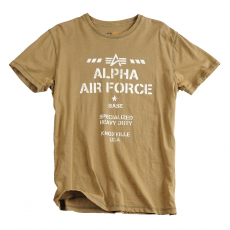 Alpha Industries Air Base T - olive színű póló