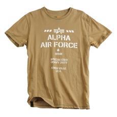 Alpha Industries Air Base T - olive színű póló