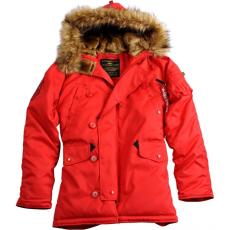 Alpha Industries Explorer Női - speed red kabát