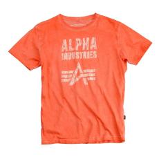 Alpha Industries Crack Print T - narancs