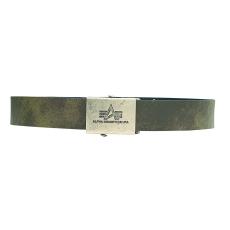 Alpha Industries Alpha Leather Belt 2 - olive színű bőröv