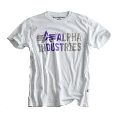 Alpha Industries Basic T Print 3 - fehér póló