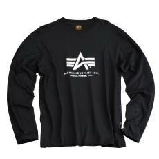 Alpha Industries Basic T LS - fekete hosszú ujjú póló