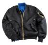 Alpha Industries MA-1 VF Rev - fekete férfi kabát, dzseki