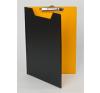 PANTA PLAST Felírótábla, fedeles, A4, fekete-sárga felírótábla